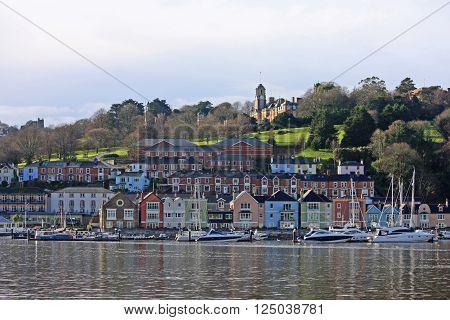 yachts on the river Dart in Dartmouth, Devon