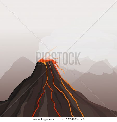 Dangerous phenomenon. A natural phenomenon. Volcano eruption