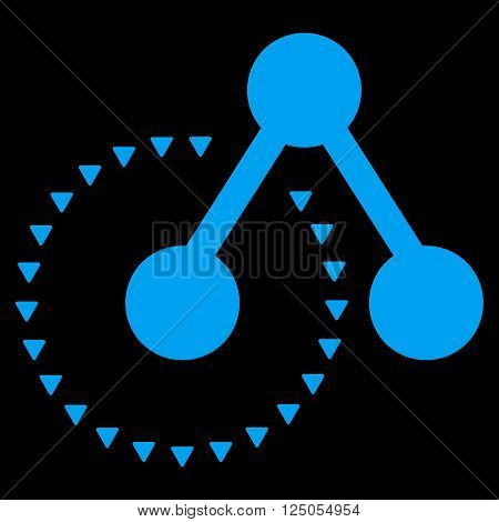 Molecule Structure Analysis vector icon. Molecule Structure Analysis icon symbol. Molecule Structure Analysis icon image. Molecule Structure Analysis icon picture.