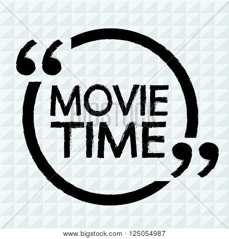 an images of MOVIE TIME Lettering Illustration design