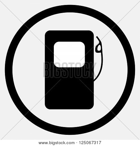 Fuel station icon black white. Fuel and gas station fuel pump and petrol station gasoline station and station icon fuel pump and energy. Vector flat design illustration