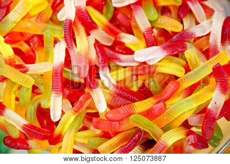 Group Of Colorfu Jellyl Worms