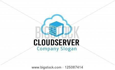 Cloud Server Creative And Symbolic Logo Design Illustration