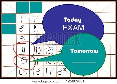 Today, yesterday, tomorrow  In a picture is represented time. Despite the general background, a picture it is possible to use individually in the different purposes.