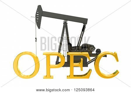 OPEC concept 3D rendering isolated on white background