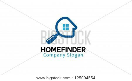 Home Finder Creative And Symbolic Logo Design Illustration