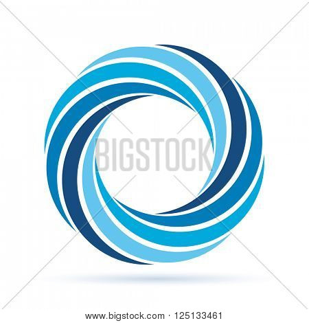abstract vector sign like blue wreath