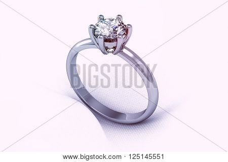 The Beauty Wedding Ring (high Resolution 3D Image)