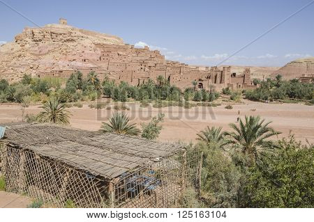 Beautiful view on ancient kasbah Ait ben Haddou in Morocco