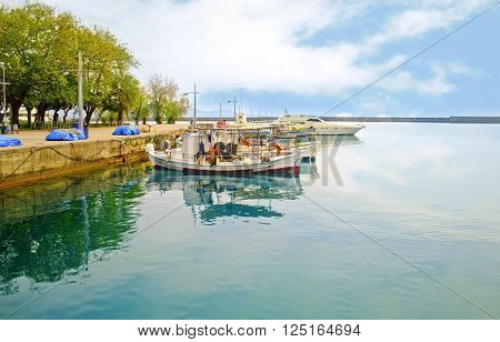 jetty at Navarinou road Kalamata Peloponnese Greece