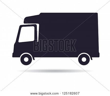 Refrigerator truck icon, vector illustration isolated on white