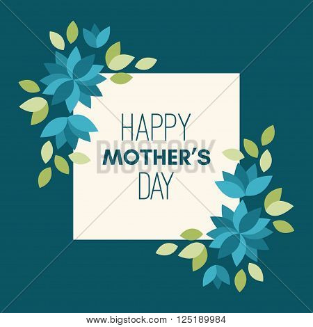 Happy Mothers Day. Greeting Card With Flowers. Vector Illustration