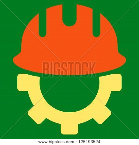 Development Hardhat vector icon. Development Hardhat icon symbol. Development Hardhat icon image. Development Hardhat icon picture. Development Hardhat pictogram.
