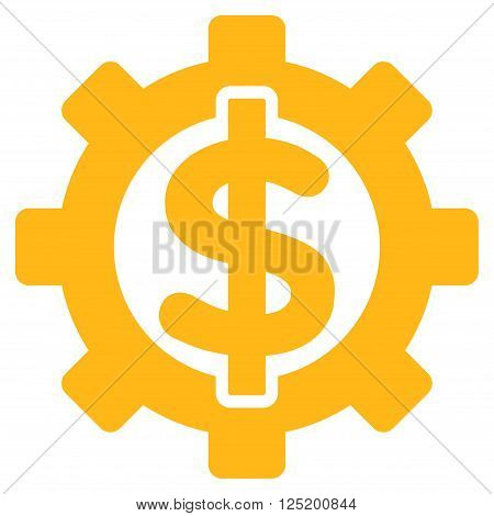 Financial Options vector icon. Financial Options icon symbol. Financial Options icon image. Financial Options icon picture. Financial Options pictogram. Flat yellow financial options icon.