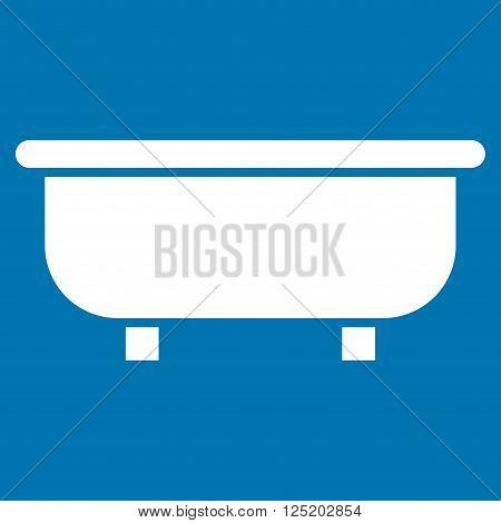 Bathtub vector icon. Bathtub icon symbol. Bathtub icon image. Bathtub icon picture. Bathtub pictogram. Flat white bathtub icon. Isolated bathtub icon graphic. Bathtub icon illustration.