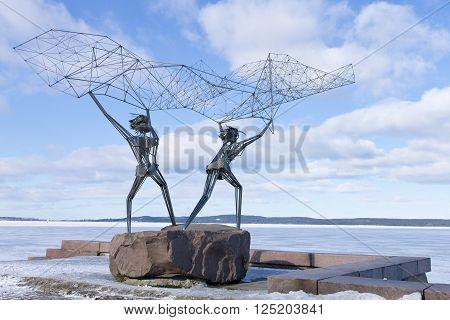 PETROZAVODSK, RUSSIA - MARCH 19TH, 2016: Sculpture