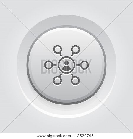 Current Tasks Icon. Business Concept. Grey Button Design