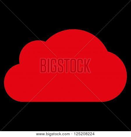 Cloud vector icon. Cloud icon symbol. Cloud icon image. Cloud icon picture. Cloud pictogram. Flat red cloud icon. Isolated cloud icon graphic. Cloud icon illustration.