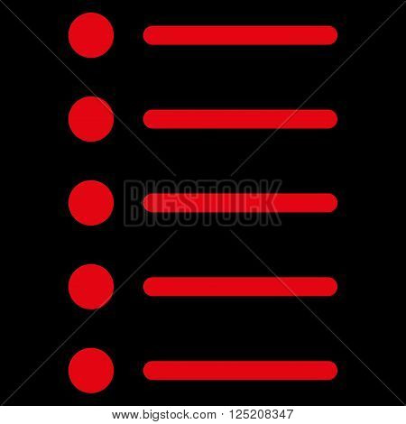 Items vector icon. Items icon symbol. Items icon image. Items icon picture. Items pictogram. Flat red items icon. Isolated items icon graphic. Items icon illustration.