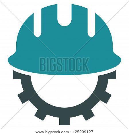 Development Hardhat vector icon. Development Hardhat icon symbol. Development Hardhat icon image. Development Hardhat icon picture. Development Hardhat pictogram.