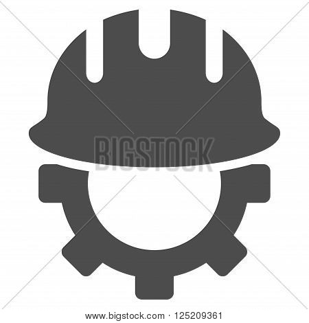 Development Hardhat vector icon. Development Hardhat icon symbol. Development Hardhat icon image. Development Hardhat icon picture. Development Hardhat pictogram. Flat gray development hardhat icon.