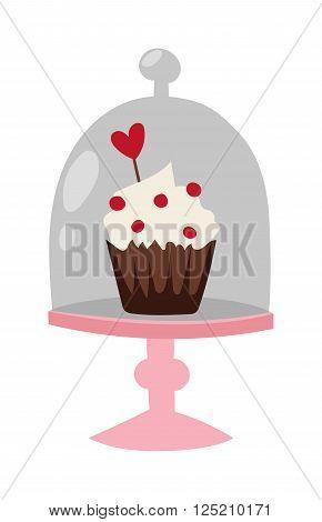 Easter cake spring celebration and seasonal easter traditional cake. Traditional sweet easter cake holliday vector. Cake food sweet vector. Food fresh cake