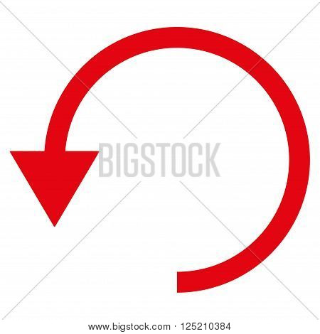 Rotate Ccw vector icon. Rotate Ccw icon symbol. Rotate Ccw icon image. Rotate Ccw icon picture. Rotate Ccw pictogram. Flat red rotate ccw icon. Isolated rotate ccw icon graphic.