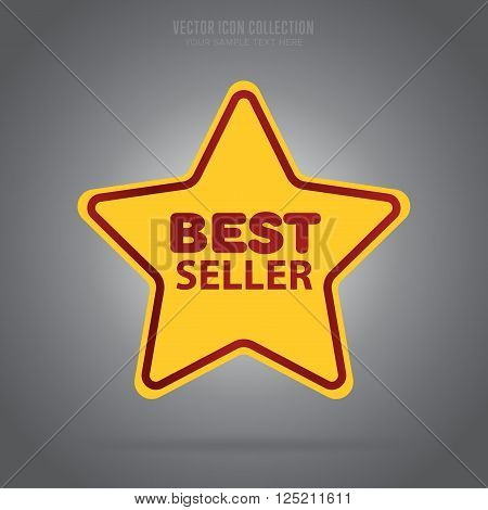 Best seller vector badge. Web sticker. Best seller sign. Special offer icon. Best seller template design. Best seller icon. Special offer badge. Best seller badge. Best seller stamp. Design of ad offer. Isolated best seller icon. Best seller stamp.