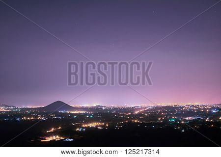 Managua City Line At Night