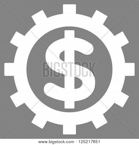 Financial Industry vector icon. Financial Industry icon symbol. Financial Industry icon image. Financial Industry icon picture. Financial Industry pictogram. Flat white financial industry icon.