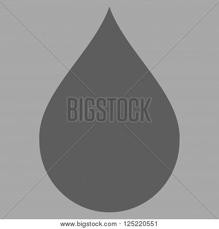 Drop vector icon. Drop icon symbol. Drop icon image. Drop icon picture. Drop pictogram. Flat dark gray drop icon.