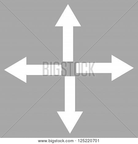 Expand Arrows vector icon. Expand Arrows icon symbol. Expand Arrows icon image. Expand Arrows icon picture. Expand Arrows pictogram.