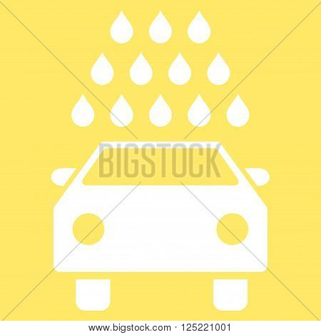 Car Wash vector icon. Car Wash icon symbol. Car Wash icon image. Car Wash icon picture. Car Wash pictogram. Flat white car wash icon. Isolated car wash icon graphic. Car Wash icon illustration.
