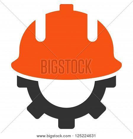 Development Helmet vector icon. Development Helmet icon symbol. Development Helmet icon image. Development Helmet icon picture. Development Helmet pictogram.