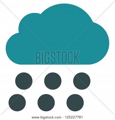 Rain Cloud vector icon. Rain Cloud icon symbol. Rain Cloud icon image. Rain Cloud icon picture. Rain Cloud pictogram. Flat soft blue rain cloud icon. Isolated rain cloud icon graphic.