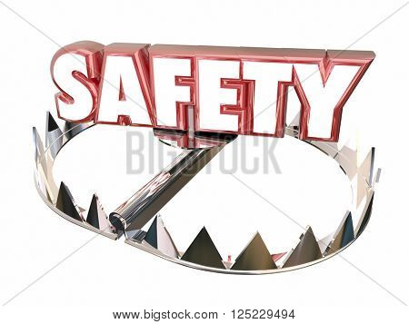Safety Avoid Danger Protection Security Bear Trap 3d Word