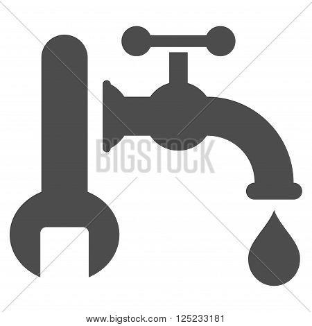 Plumbing vector icon. Plumbing icon symbol. Plumbing icon image. Plumbing icon picture. Plumbing pictogram. Flat gray plumbing icon. Isolated plumbing icon graphic. Plumbing icon illustration.