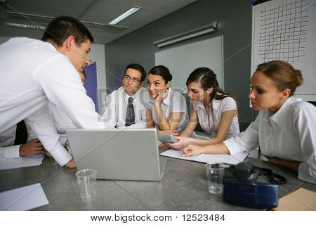 Business people in a meeting room