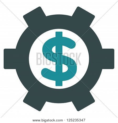 Financial Settings vector icon. Financial Settings icon symbol. Financial Settings icon image. Financial Settings icon picture. Financial Settings pictogram. Flat soft blue financial settings icon.