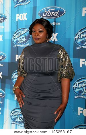 LOS ANGELES - APR 7:  Candice Glover at the American Idol FINALE Arrivals at the Dolby Theater on April 7, 2016 in Los Angeles, CA
