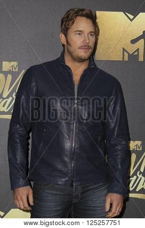 LOS ANGELES - APR 9:  Chris Pratt at the 2016 MTV Movie Awards Arrivals at the Warner Brothers Studio on April 9, 2016 in Burbank, CA