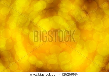 Yellow Gold abstract background ( Soft blur and bokeh radian motion style )