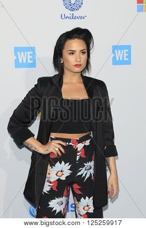 LOS ANGELES - APR 7:  Demi Lovato at the WE Day California 2016 at the The Forum on April 7, 2016 in Inglewood, CA