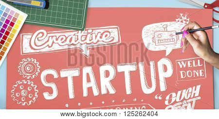Startup Business Launch New Business Concept poster