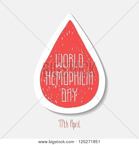 World hemophilia day. 17th April. Vector symbol