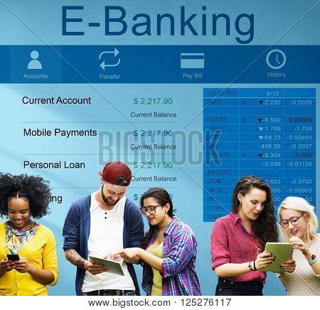 E-Banking Bank Banking Credit Card Finance Money Concept