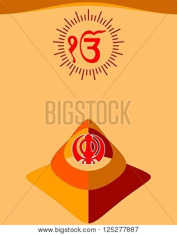 Ek Onkar, Khanda The Holy Motif Vector Illustration