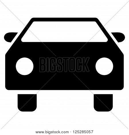 Car vector icon. Car icon symbol. Car icon image. Car icon picture. Car pictogram. Flat black car icon. Isolated car icon graphic. Car icon illustration.