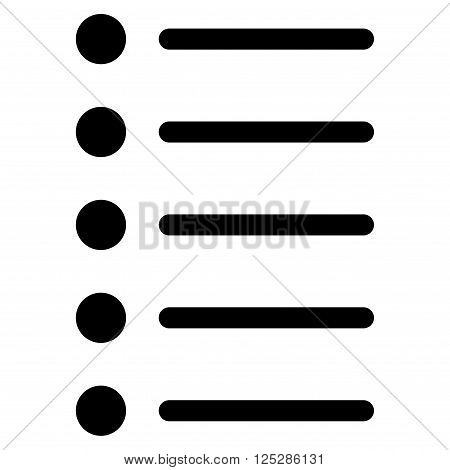 Items vector icon. Items icon symbol. Items icon image. Items icon picture. Items pictogram. Flat black items icon. Isolated items icon graphic. Items icon illustration.