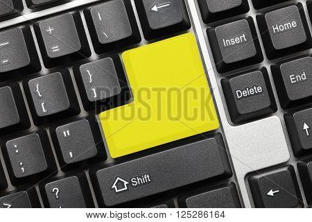 Conceptual Keyboard - Blank Yellow Key